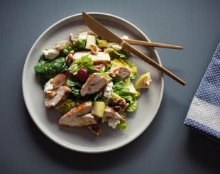 Kylling og chevresalat porsjon