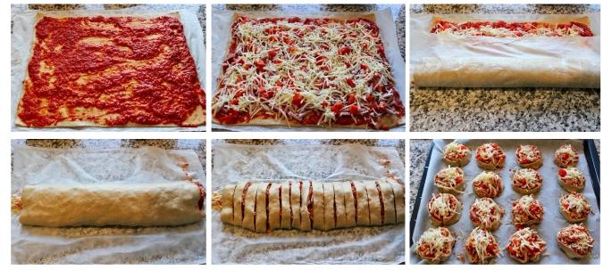 rulling av pizzasnurrer