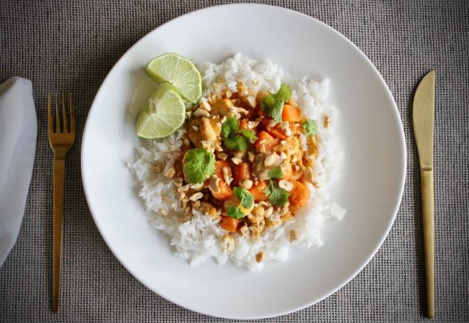 thaicurry med kylling og søtpotet