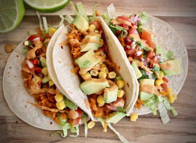 pulled gulrot vegansk vegetarisk taco