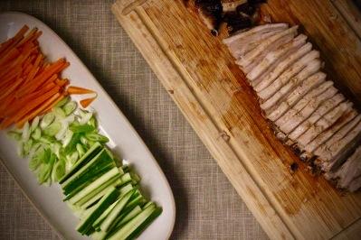 asiatisk ribbe og grønnsaker
